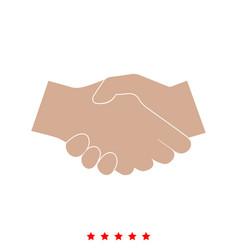 business handshake it is icon vector image