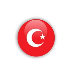 Button turkey flag template design vector