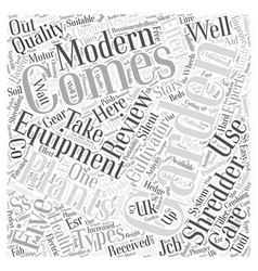 BW modern gardening equipment Word Cloud Concept vector image