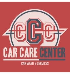Car Care Center label t-shirt vector