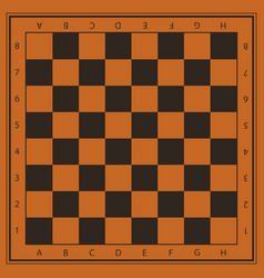Chess field in orange and black colors with vector