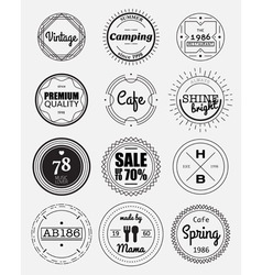 Circle badges vector