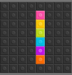 colorful brick block letter i flat design vector image