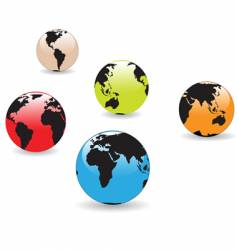 colorful globes vector image