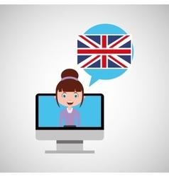 England education online design girl vector