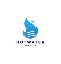 fire flame hot water logo icon vector image