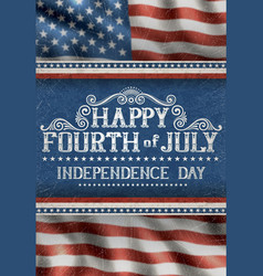 fourth july card vector image