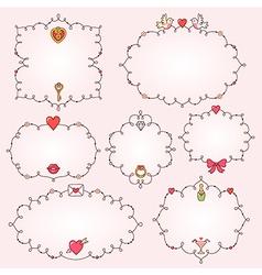 frames valentine vector image