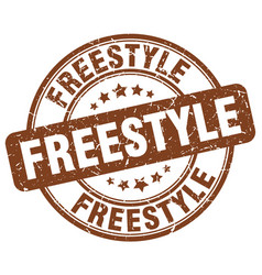 Freestyle stamp vector