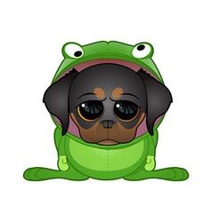 Frog dog vector