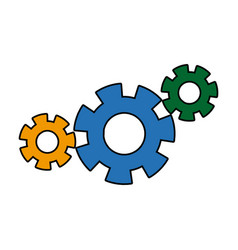 gears union collaboration team work vector image