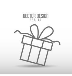 gift drawn design vector image
