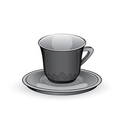 glass coffee cup drink equipment vector image