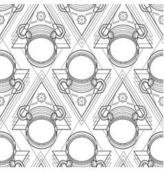 Graphic austronaut in triangle vector