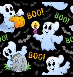 halloween seamless background 4 vector image