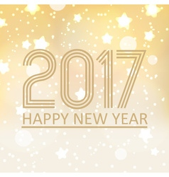 Happy new year 2017 on shiny abstract background vector