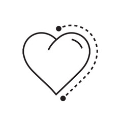 Heart icon dots style vector