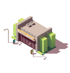 isometric gadgets and computer store vector image