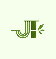 j bamboo naturally creative business logo vector image