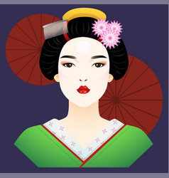 Japanese lady vector