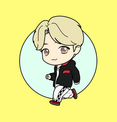 Kpop boy 1 vector
