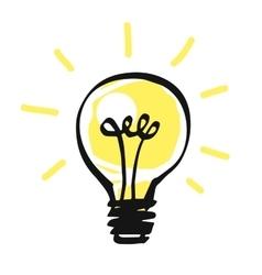 light bulb icon idea concept vector image