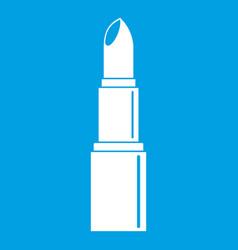 Lipstick icon white vector