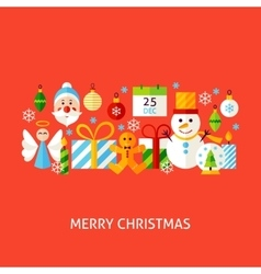 Merry Christmas Greeting Concept vector image