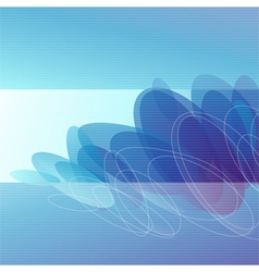Molecules - Abstract blue background vector