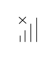 No cellular network icon vector