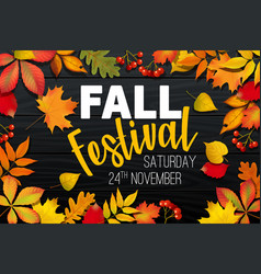 November fall autumn festival announcement vector