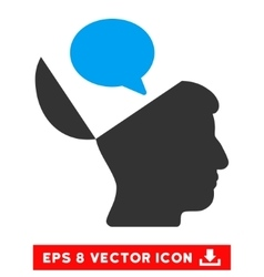 Open mind opinion eps icon vector