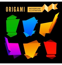 origami set vector image vector image