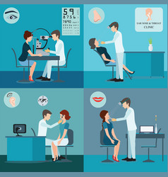 Patient and doctor set vector