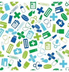 pharmacy seamless pattern vector image vector image