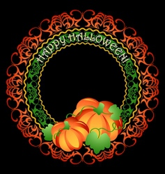 pumpkins medallion vector image