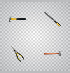 Realistic handle hit sharpener nippers vector