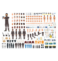Repairman or serviceman creation kit bundle of vector