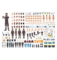 Repairman or serviceman creation kit bundle vector