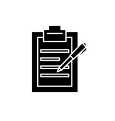 report writing black icon sign on isolated vector image