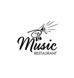 restaurant with jazz music vector image