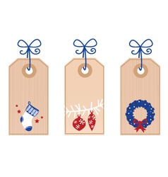 retro christmas tags vector image