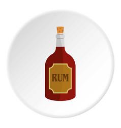 Rum icon circle vector