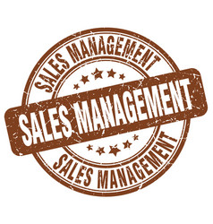 Sales management brown grunge stamp vector
