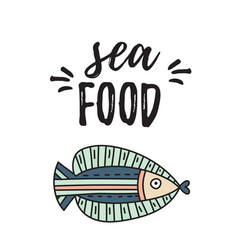 Seafood card or flyer design vector