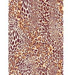 Seamless classic leopard texture pattern vector