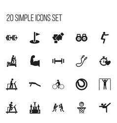 Set of 20 editable healthy icons includes symbols vector