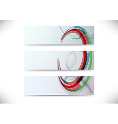 Set of headers with abstract element vector image