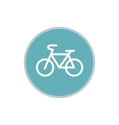 Sign bike icon flat style vector image