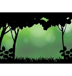Silhouette forest vector